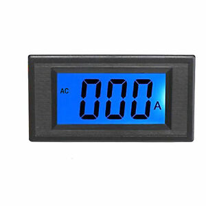 Us Stock Blue Lcd Digital Amp Current Panel Meter Ammeter Ac 50a Shunt