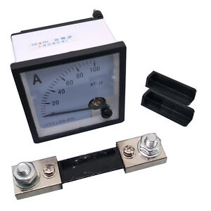 Us Stock Dc 0 100a Analog Amp Current Needle Panel Meter Ammeter Xt 72 Shunt