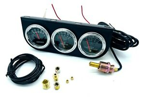 New Triple Auto Gauge Kit Amp Water Temp Oil Car Truck Parts Automotive