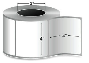 4 X 4 Thermal Transfer Label 3 Core Ribbon Required 1475 rl 8 Rolls