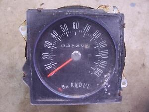 1970 1972 Buick Skylark Gs Interior Speedometer Gauge Insert Hot Rod Parts