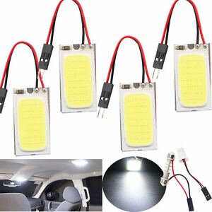 48 Smd T10 4w Cob Panel Lights Led Car Interior 12v Lamp Bulb Dome White Light