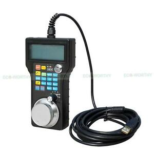 Wired Usb Mpg Pendant Handwheel Hand Wheel Lcd Display For Cnc Milling Router