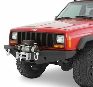 Smittybilt Rock Crawler Winch Front Bumper For Jeep Cherokee Xj Xrc 84 01