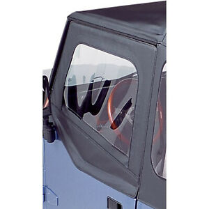 Bestop 51782 01 Upper Fabric Half Door Pair Of 2 Black Crush Fit Jeep Wrangler