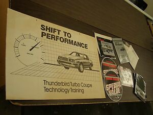 Oem Ford 1984 Thunderbird Turbo Coupe Dealer S Announcement Kit Display