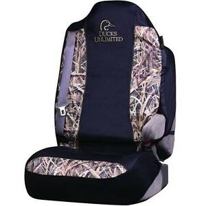 Ducks Unlimited Camo Universal Bucket Seat Cover Mossy Oak Blades