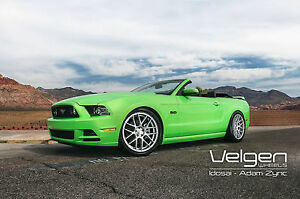 20x9 20x10 5 45 Velgen Vmb7 5x114 3 Silver Wheels Fits Ford Mustang Staggered