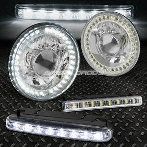 7 H6024 Projector Round Chrome Led Crystal Housing Head Light Driving Fog Lamp