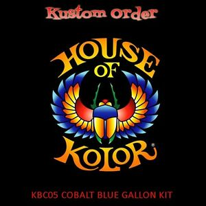 House Of Kolor Kbc05 Cobalt Blue Gallon Kit With Kd3000 Primer And Usc01 Clear