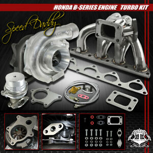 T04e 5pc T3 t4 Turbo Kit manifold wastegate 88 01 B16 b18 Civic prelude integra
