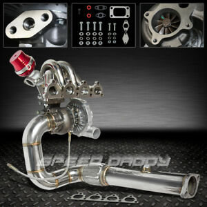 T04e 5pc Turbo Kit ss Manifold downpipe wg 88 00 D15 D16 Civic Crx Ee Ef Ej Ek