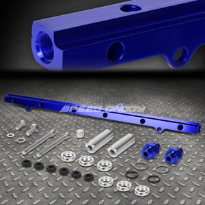 For Jza80 Supra 2jz Gte Blue Aluminum Top Feed High Flow Fuel Injector Rail Kit