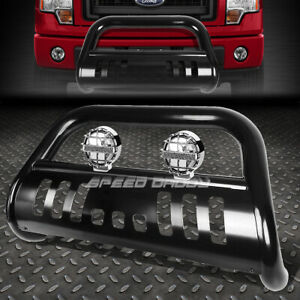 Black 3 Bull Bar Grille Guard Chrome Fog Light For 11 16 Ford Explorer U502 Cuv