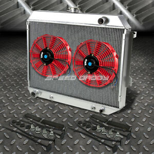 3 Row Aluminum Radiator 2x 12 Fan Red For 68 73 Satellite Gtx Roadrunner V8