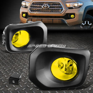 For 16 20 Toyota Tacoma Amber Lens Bumper Driving Fog Light Lamps W Bezel Switch