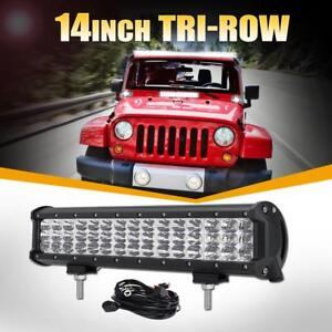 14 450w Tri Row Cree Led Light Bar Combo Diring Offorad Boat Truck Atv 4wd 15