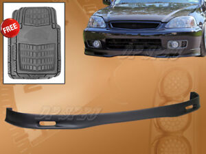 For 99 00 Civic Spoon Style Pu Polyurethane Front Bumper Lip Spoiler Floor Mat