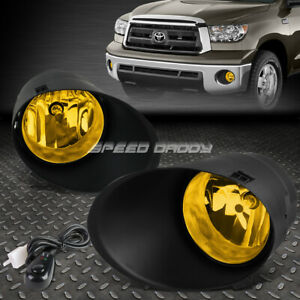 For 07 11 Toyota Sequoia 13 Tundra Amber Lens Bumper Fog Light Lamps W Switch