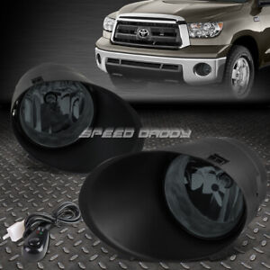 For 07 11 Toyota Sequoia 13 Tundra Smoked Lens Bumper Fog Light Lamps W switch