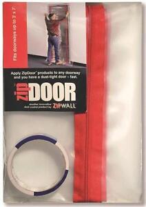 New Zipwall Zds Door Dust Containment Full Kit Clear Plastic 3 X 7 0835819