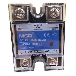 Us Stock 10a Solid State Relay Ssr Dc ac Input 3 32v Dc Load 24 480v Ac D4810