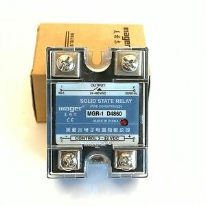 Us Stock 60a Solid State Relay Ssr Dc ac Input 3 32v Dc Load 24 480v Ac D4860
