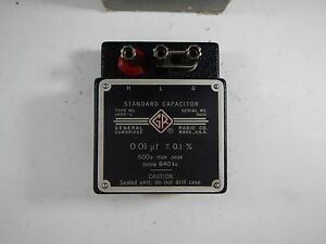 General Radio Co Standard Capacitor 1409 l 0 01 f