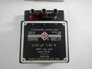General Radio Co Standard Capacitor 1409 r 0 05 f