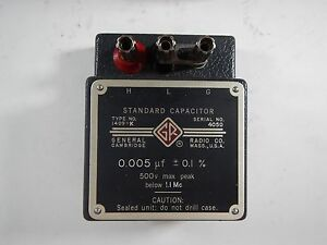 General Radio Co Standard Capacitor 1409 k 0 005 f
