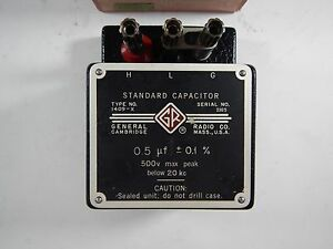 General Radio Co Standard Capacitor 1409 x 0 5 f