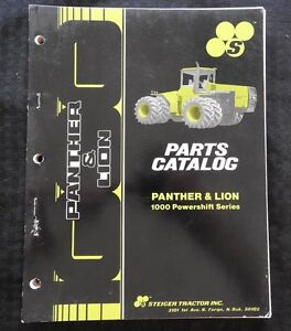Genuine Steiger Panther Lion 1000 Powershift Series Tractor Parts Catalog Manual