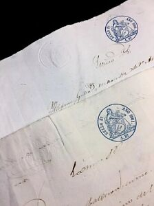 Lot Of Two Spanish Papers 1860 1861