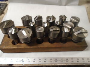 Machinist Tools Lathe Mill Machinist Lot Of Specialy End Mill Cutters 7 8 Sh