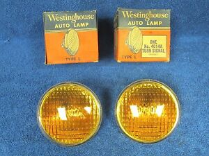 Vintage Ford Dodge Chevy Amber 4 1 2 Signal Light Bulbs Nos Westinghouse 217