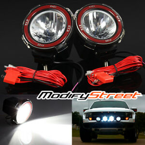 2pc 4 Inch 55w Hid Xenon Offroad Driving Flood Lights Work Search Outdoor Lamps