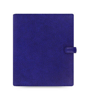 Filofax A5 Finsbury Leather Organizer Electric Blue Leather 022500 2018 Diary