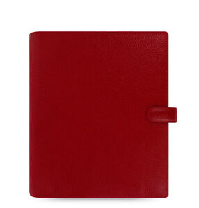 Filofax A5 Finsbury Leather Organizer Cherry Leather 022498 2018 Diary