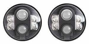 Pro Comp 7 Round Led Headlight Set Of 2 Black Housing Jeep Wrangler Jk