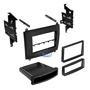 Car Radio Stereo Single Double Din Trim Dash Kit For 2003 2007 Cadillac Srx Cts