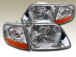97 03 Ford F150 Svt 1997 2002 Expedition Headlights Clear Corner Lights