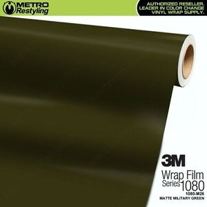 3m 1080 M26 Matte Military Green Vinyl Vehicle Car Wrap Decal Film Sheet Roll