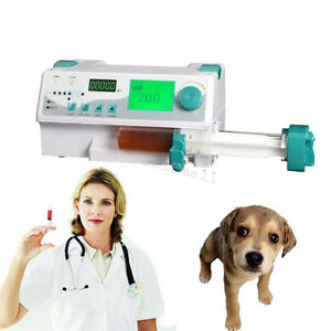 Veterinary Syringe Pump Icu Ccu Monitor Audible Visual Alarm Drug Library Kvo Ce