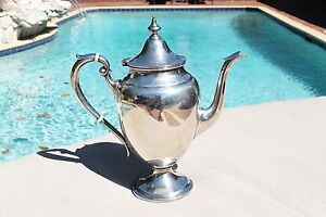Gorgeous Gorham Puritan Sterling Silver Coffee Tea Pot 2 3 4 Pint 693 Grams 925