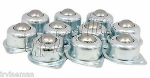 2 Holes Flange Ball Transfer Unit 1 Inch Pack Of 10 Mounted Bearings 7770