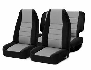 Front And Rear Neoprene Seat Covers Gray For Jeep Wrangler Tj 97 02 Smittybilt