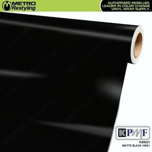 Kpmf K89021 Matte Black Vinyl Vehicle Car Wrap Decal Film Sheet Roll