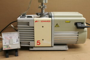 Edwards Rv5 Vacuum Pump Dual Stage 3 6 Cfm 114v Tested