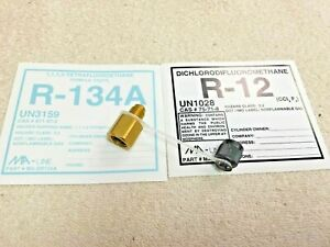 Refrigerant R134a To R12 Adapter With Cap Retaining Strap New Pyro Lite