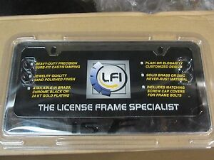 08 16 New Lexus License Plate Chrome Frame Isf Black F 2008 2009 2010 2011 2012